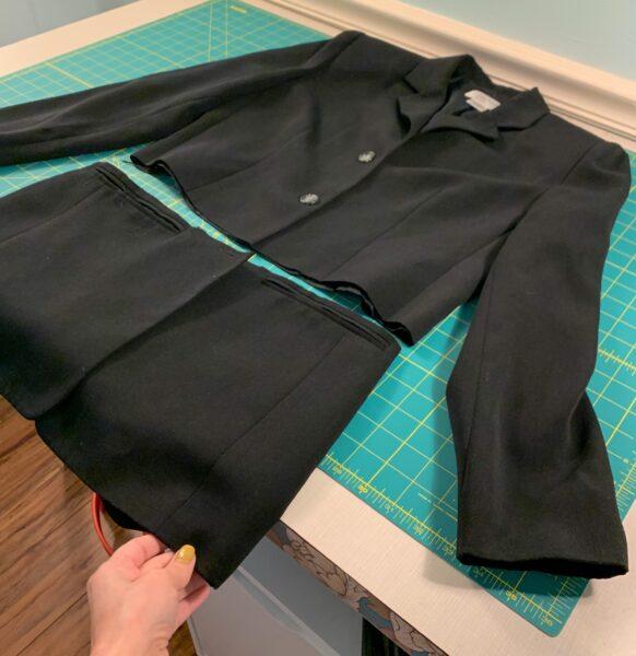 cropping blazer