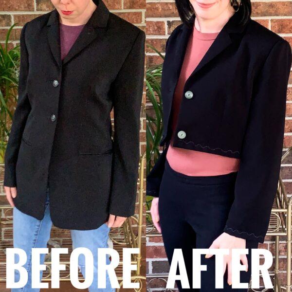 diy cropped blazer