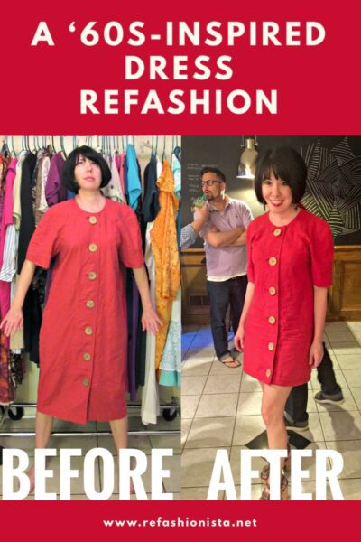 1990s Merp to 1960s Mod Dress Refashion 4