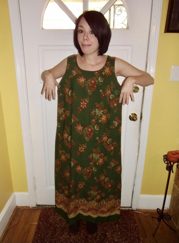 sleeveless dress refashion before