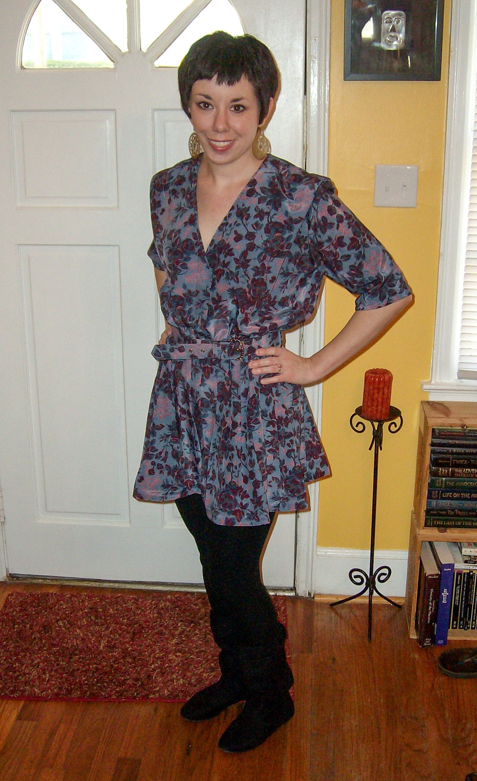 How to Update a '90s Dress by Shortening the Hem and Sleeves after