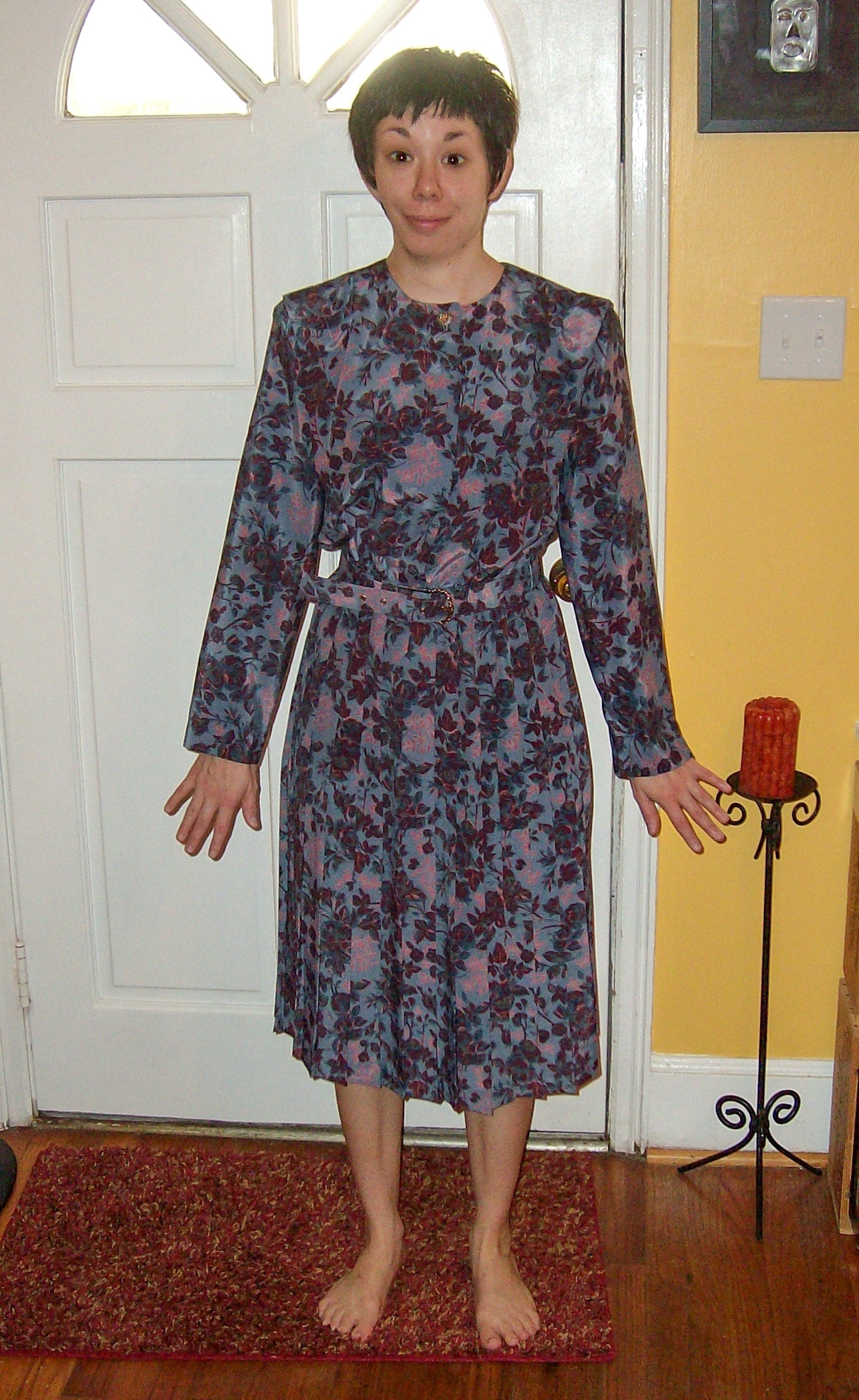 How to Update a '90s Dress by Shortening the Hem and Sleeves before