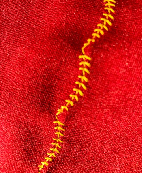 close up of decorative stitching