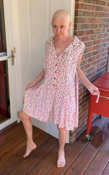 refashionista Romper to Dress DIY before