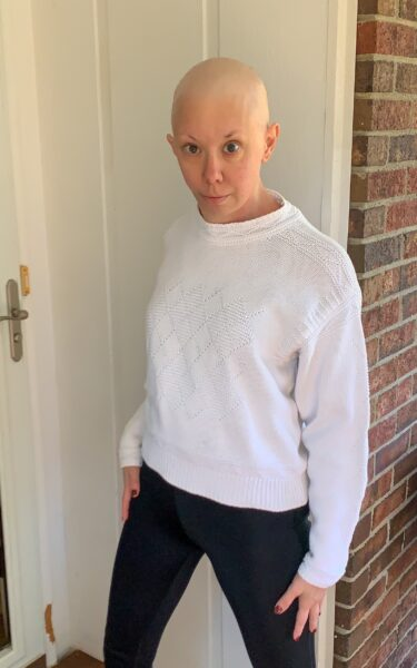 sweater refashion before