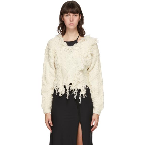 ottolinger deconstructed white sweater