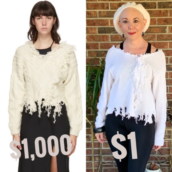 Refashionista Ottolinger 2020 Deconstructed Sweater Knockoff