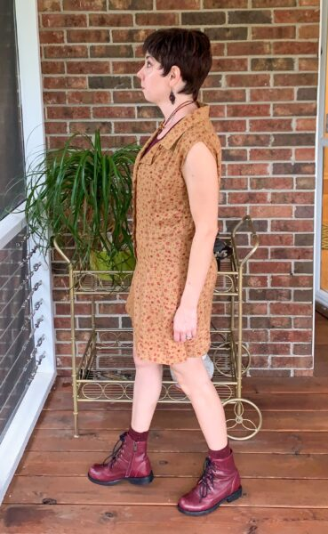 A Happy Thanksgiving Romper to Dress DIY after side view