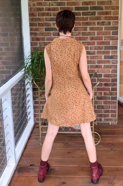 A Happy Thanksgiving Romper to Dress DIY after back view
