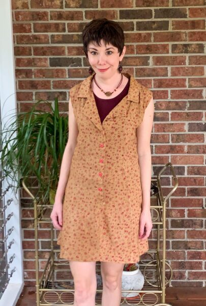 A Happy Thanksgiving Romper to Dress DIY after close up