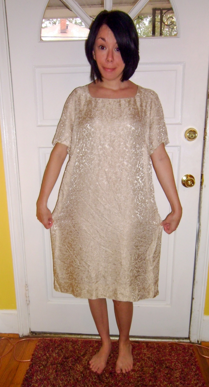 dowdy dress refashion before