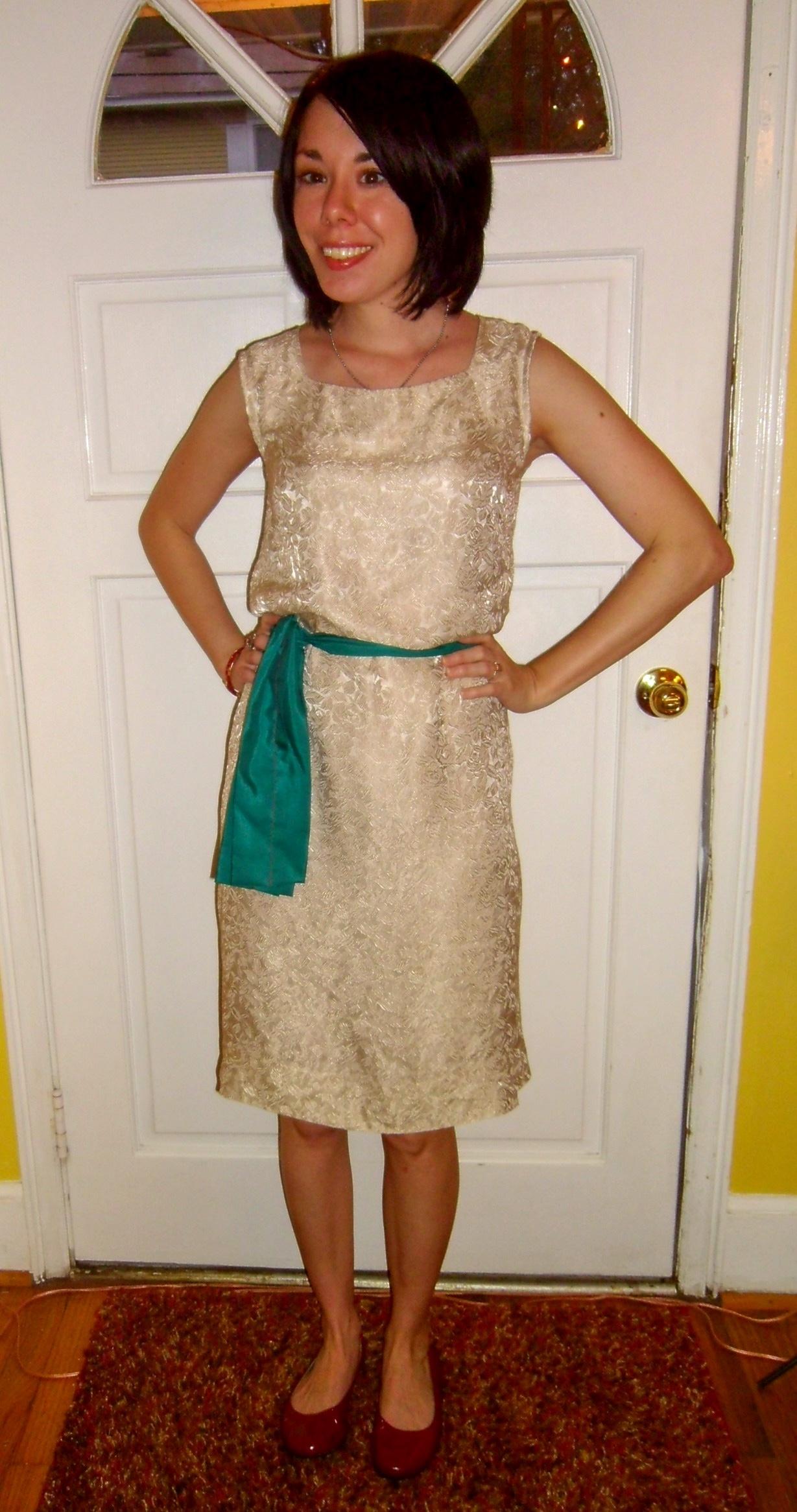 dowdy dress refashion after