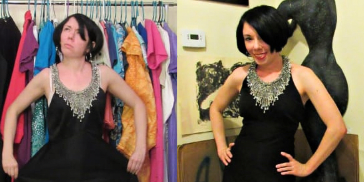 New Years' Eve 1970s Formal Dress Refashion