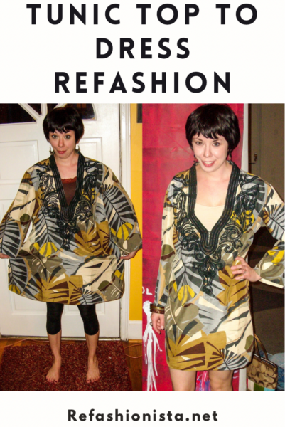 Tunic Top to Dress Refashion |
