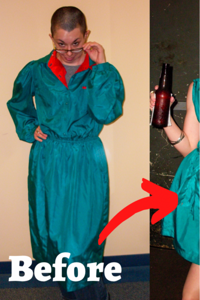 A Very Merry Christmas (in July) Dress Refashion 4