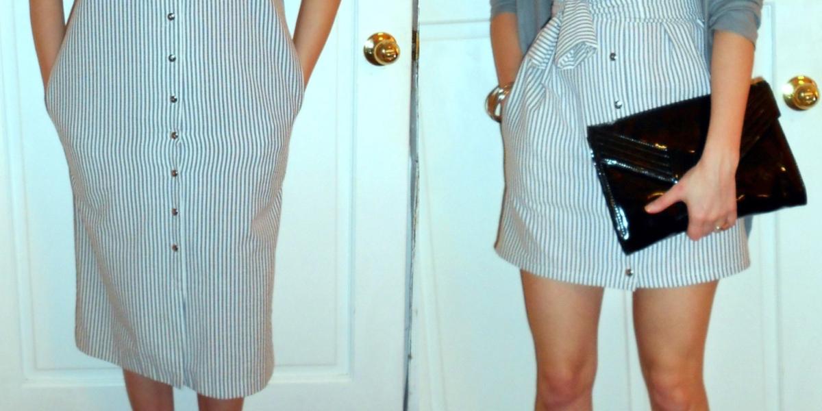 '80s Seersucker Dress Refashion featured image