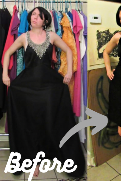 A New Years' Eve 1970s Formal Dress Refashion 1