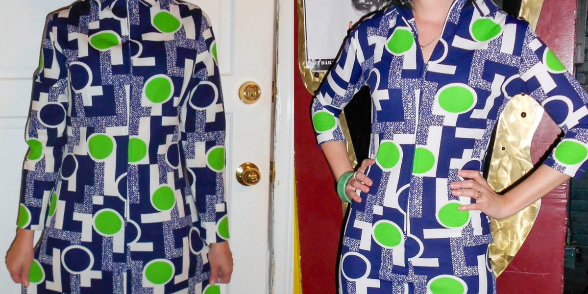 '70s Vintage Housedress Refashion featured image