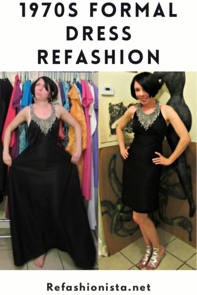 A New Years' Eve 1970s Formal Dress Refashion 2