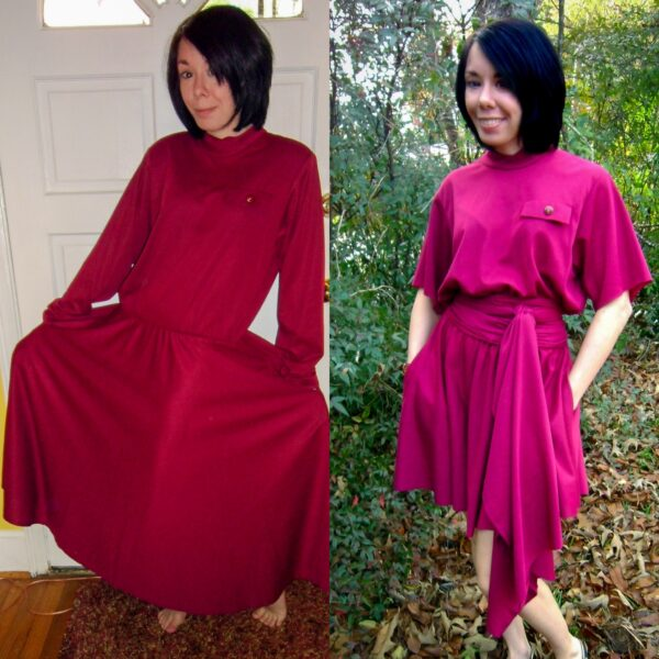 no sew dress refashion christmas eve