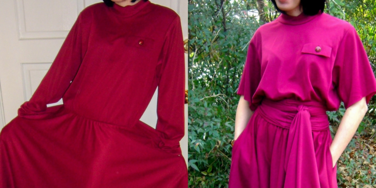 Christmas Eve No-Sew Dress Refashion featured image