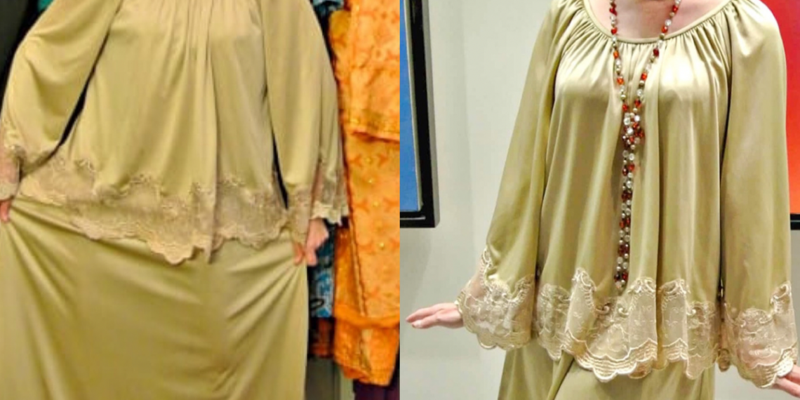 Mother of the Beige Dress Refashion featured image