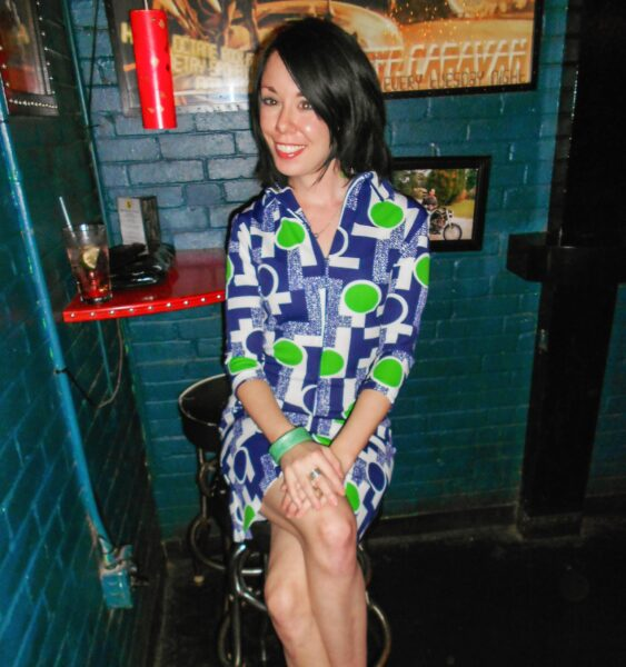refashionista '70s Vintage Housedress Refashion after sitting