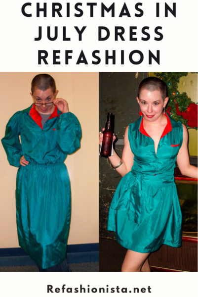 A Very Merry Christmas (in July) Dress Refashion 3