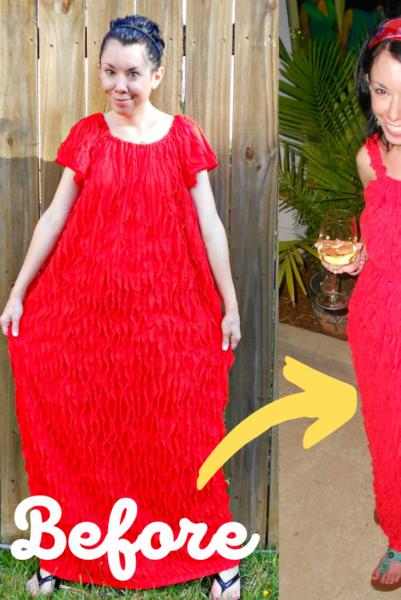 ruffled dress upcycle