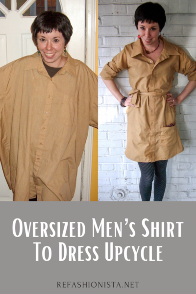 How to Upcycle a Men's Shirt into a Dress