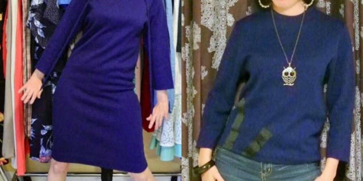 Sweater Dress to Sweater Refashion featured image