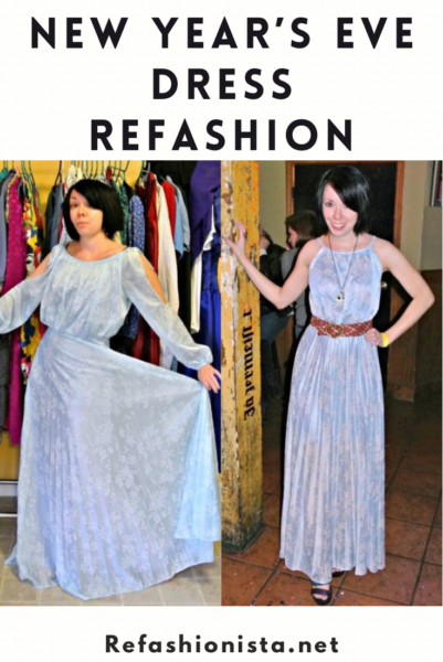 refashionista ModCloth-Inspired New Year's Eve Dress Refashion