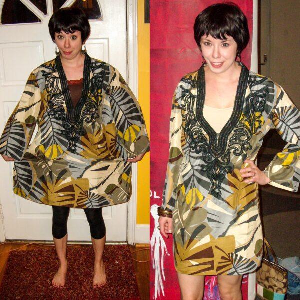 Tunic Top to Dress Refashion