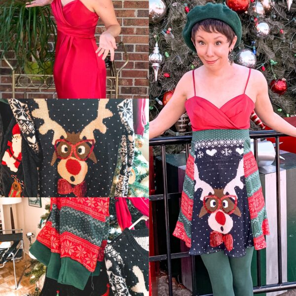 DIY Christmas Sweater Dress