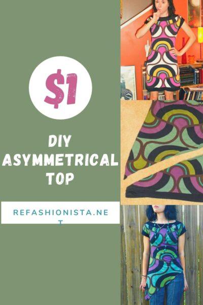 DIY Asymmetrical Top Refashion