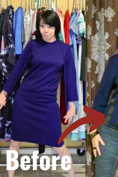 Sweater Dress to Sweater Refashion