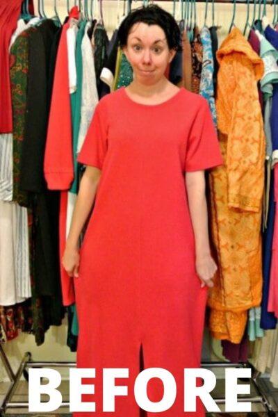 Short Sleeve to Long Sleeve Dress Refashion