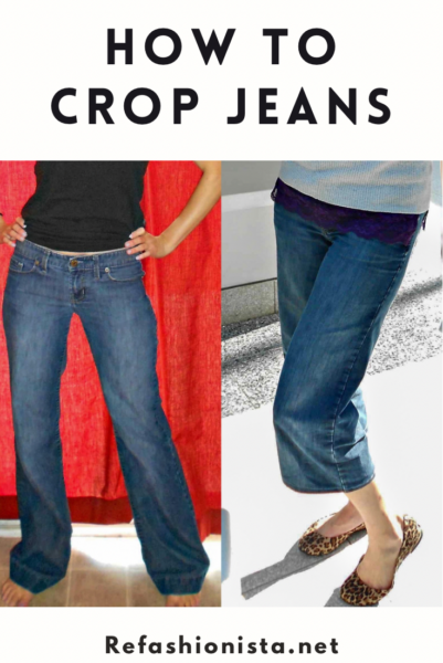 refashionista how to crop jeans