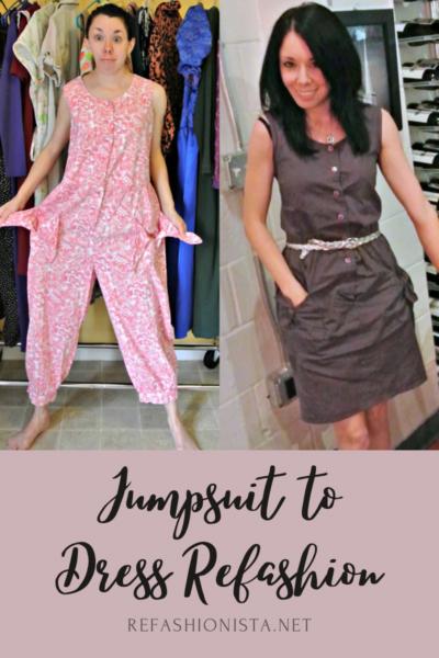 '80s Jumpsuit to Dress