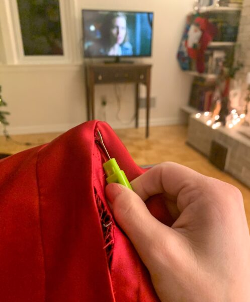 seam ripping while watching Broadchurch