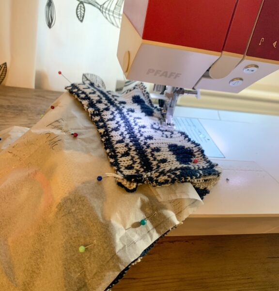 sewing panel pieces together