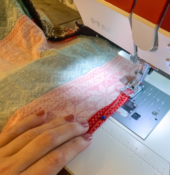 sewing dress hem on sewing machine