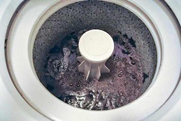 washing machine with dye bath