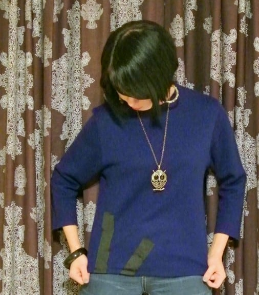 Sweater Dress to Sweater Refashion after