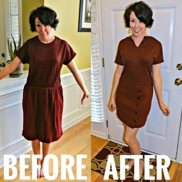 refashionista How to Remove an Elastic Waistband from a Dress after