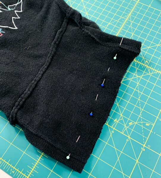 pinning back of halter top