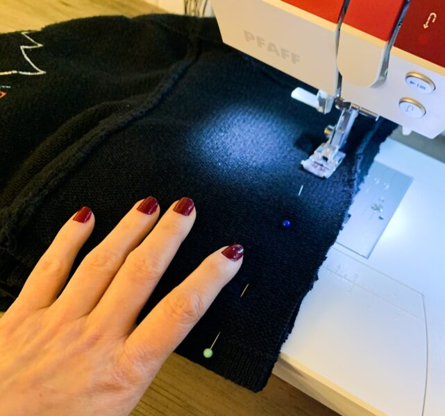 sewing back of halter top