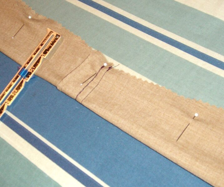 Pinning side of sash together