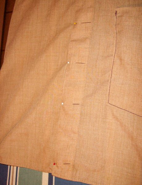 pinning front placket