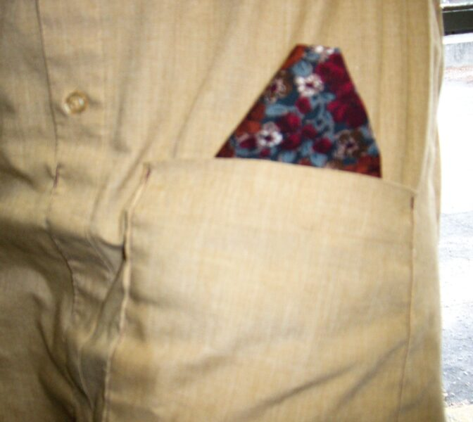 close up of pocket square